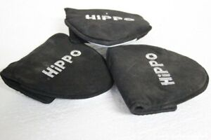 TRE COPRIFERRI  PUT PUTTER GOLF MARCA HIPPO COVER MAZZA DA GOLF - COPRI MAZZA
