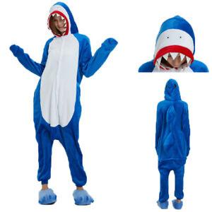 Animal Pajamas Kigurumi Cosplay Pyjama Adult Costumes Onesie18 Jumpsuit Shark