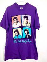 VTG The Oak Ridge Boys Men's Purple 90s Color Block Band T-Shirt Size L