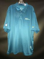MIAMI DOLPHINS TEAM ISSUED NAVY DRI-FIT NIKE COACHES SIDELINE POLO SZ-XX-LARGE