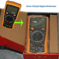Digital victor VC890D Multimeter Plastic Shell Ohmmeter AC DC Testing - Excellen