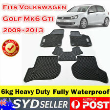 Latex Rubber Car Floor Mats Tailor Made VW Volkswagen Golf MK6 GTI 2009 - 2013
