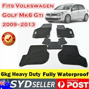 Latex Rubber Car Floor Mats Tailor Made VW Volkswagen Golf MK6 GTI 2009 - 2013