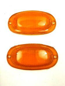 Auto Union DKW 1000 1000S Turn Signal Lens Set Amber NEW #70
