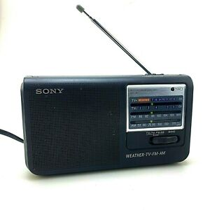 Sony ICF-36 AM/FM/TV/Weather Band Portable Radio AC/DC   Bugout Bag   Working