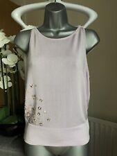 Karen Millen Lilac Embelished Sleeveless Top Blouse Size 2 UK 6