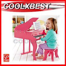 NEW HAPE E0319 HAPPY GRAND PIANO PINK w STOOL KIDS 30 KEYS MUSICAL TOY 3-6 YRS