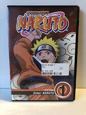 NARUTO DVD ENGLISH DUBBED & SUBS PAL2 VERSION #1 SHONEN JUMP'S ANIME