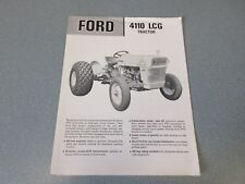 Ford 4110 LCG Tractor Brochure                       lw