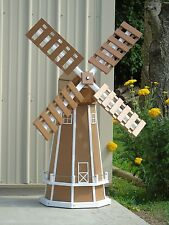 5 ft. Octagon (8 sided) Polywood Dutch Windmill (Carmel with White Trim)