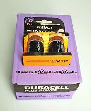 10 PZ Duracell Plus Power D 2 Batterie Alcaline MN 1300 1.5V LR20