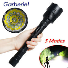Garberiel 80000LM 12x T6 LED 5Mode 18650 Led Flashlight Super Bright Torch Light