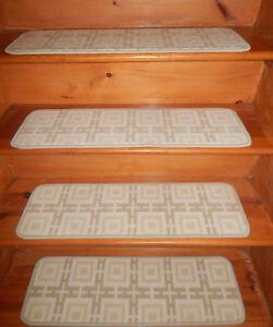 12 = Step 9'' x 30''  carpet Wool Blend Woven Stair Treads  .