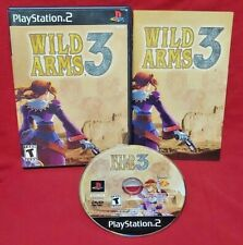 Wild Arms 3  -  Playstation 2 PS2 Game Working / Tested - 1 Owner Black Label