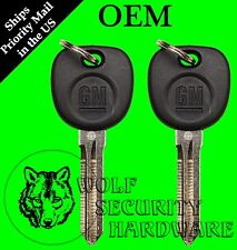 Lot of 2 GM Logo OEM Circle Plus Transponder Electronic Chip Key Blank 5928819