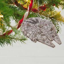 Star Wars Millennium Falcon 2018 Hallmark Ornament Chewbacca Han Lando Luke