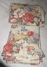 NEW Ralph Lauren Dylan's Grove Full Sheet Set Flags & Roses out of the packages