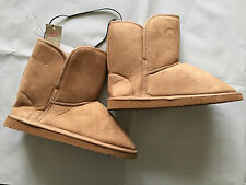 BNWT Ladies Australian Size 8 Rivers Brand Chestnut Mid Length Slipper Boots