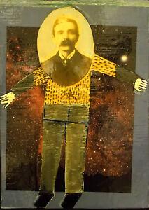 STAR GAZER Raw Folk Art Brut Painting Outsider T. Marie Nolan Original Vision
