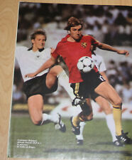 football poster Jan Ceulemans FC Brugge Belgique european nation cup Euro 1980