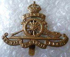 Badge- WW1 Royal Artillery Cap Badge KC (BRASS, Org ) Slider