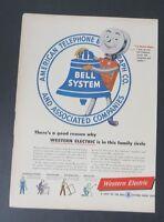 Original Print Ad 1948 WESTERN ELECTRIC Bell Telephone System Vintage Art