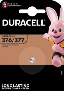 DURACELL 376/377 Pile Oxyde d'argent 1,5 V - Blister de 1 piles - DATE 03/2024