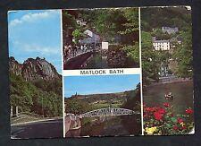 Multiviews of Matlock Bath - Fishpond, River, Bridge. Posted 1971.