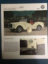 FIAT SIATA Spring 850 Spider 1966
