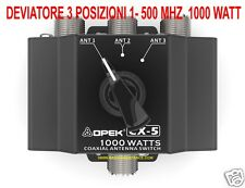 CX-5 OPEK COMMUTATORE DEVIATORE SWITCH ANTENNE 3 VIE DA 1 - 500 MHZ SO-239