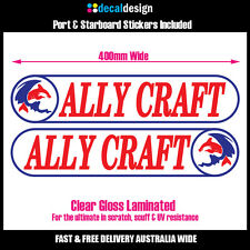 Ally Craft 40cm decals x2 port & starboard pair for boat tinnie stickers #A004