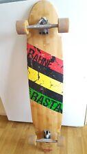 "Vintage Bahne rasta Skateboard longboard 44""  Old School Skate Board"