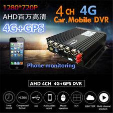 4CH AHD Car Bus Mobile DVR SD Card 4G GPS Antenna Realtime Video Recorder Remote