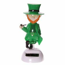 Fun Novelty Solar PAL Lucky Leprechaun 12 Cm Dancing Moving Figure