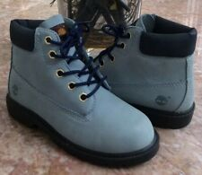 New Timberland 6 Inch Toddler Blue/Nubuck Waterproof Boots Size 12M #10856 5344