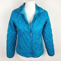 Marmot Women Small Teal Blue Quilted Puffer Jacket Coat Light Weight