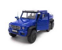 Mercedes Benz G63 6x6 AMG Blau Modellauto mit Wunschkennzeichen Maßstab 1:34 (li