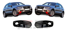 FOR AUDI Q5 2008 - 2012 NEW FRONT BUMPER FOGLIGHT GRILLE PAIR SET NOT S-LINE