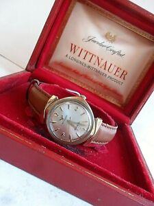 Fancy Lug Vintage Men's 1970's Wittnauer Automatic Swiss 10k G/F Watch w/ Box