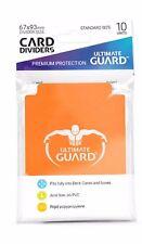 Ultimate Guard TRADING CARD STORAGE DIVIDERS PACK OF 10 - ORANGE