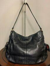 The Sak Rugged Black Hobo Pebbled Leather Shoulder Medium Purse Bag Tote