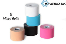 KINESIO FP Tape 5 Rolls x 5m - MIXED Colours Kinesiology Tape Injuries & Support