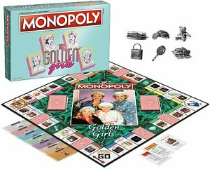 Monopoly The Golden Girls Edition Board Game USAopoly OOP