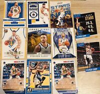 Stephen Curry Basketball Cards Lot (11 Cards) Golden State Warriors