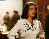 Hayley Atwell SIGNED 10X8 Photo Captain America Peggy Carter AFTAL COA (7547)