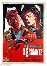 manifesto 2F originale IL BRIGANTE Renato Castellani da Giuseppe Berto 1961