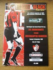 15/09/1998 Bournemouth v Wolverhampton Wanderers [Football League Cup] (No appar