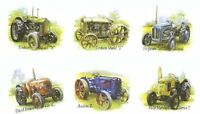 6 Farm Tractor Fordson Austin Select-A-Size Ceramic Waterslide Decals Tx