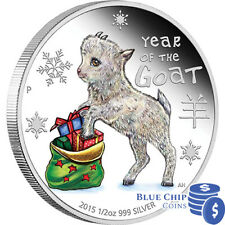 2015 Coloured Baby Goat 1/2oz Silver Proof Coin
