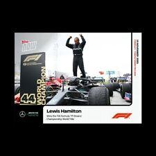 2020 Formula 1 F1 Topps Now card #13 Lewis Hamilton Mercedes 7th World Title